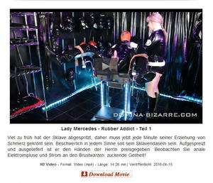 Domina-Bizarre: Lady Mercedes - Rubber Addict - Teil 1