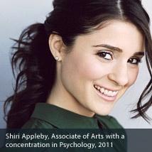 Shiri Appleby psychology Degree Photo X1